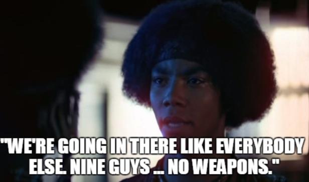 nine guys no weapons the warriors meme.jpg