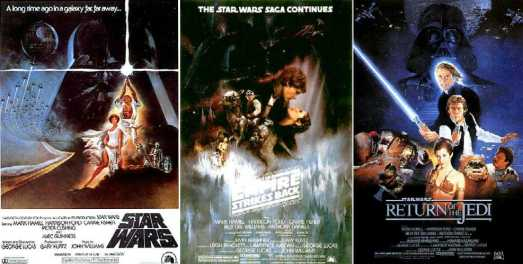 Image result for Star Wars original trilogy posters